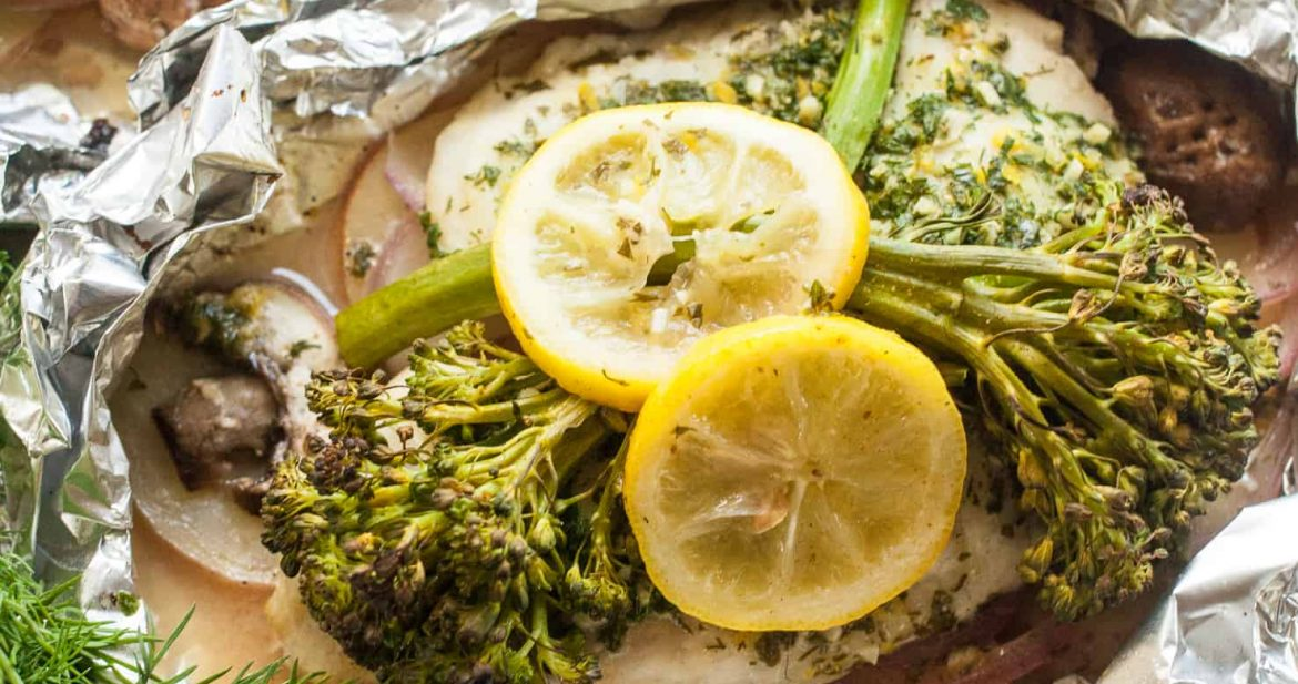 Herbed Tilapia and Vegetable Foil Packets