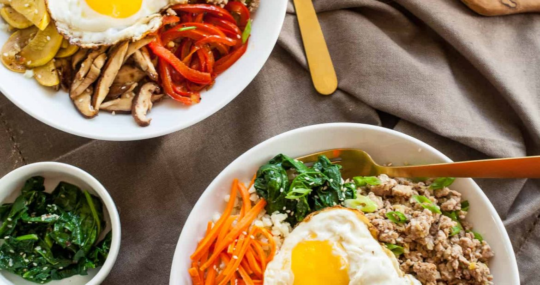 Paleo Bibimbap | Cauliflower Rice + Ground Pork Bulgogi