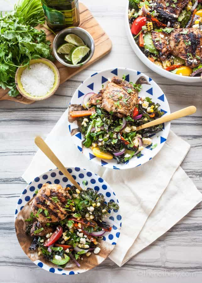 Pollo Asado and Massaged Kale Salad | The Noshery