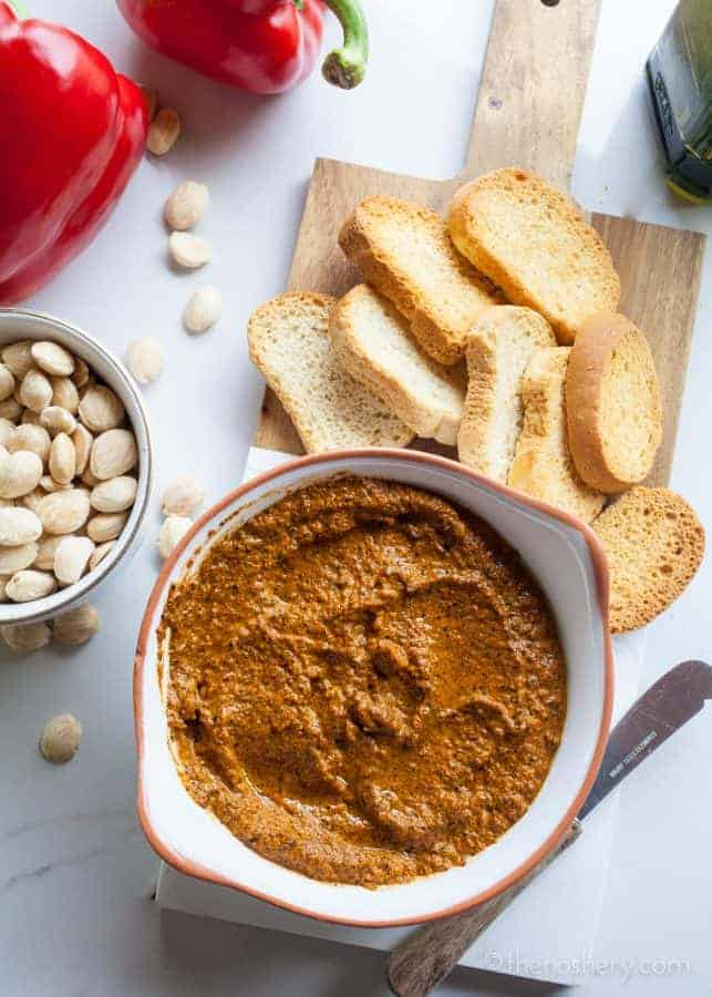 Romesco Sauce - Roasted Red Pepper, Almond, and Paprika Sauce | The Noshery