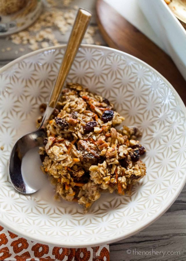 Carrot Cake Baked Oatmeal | The Noshery