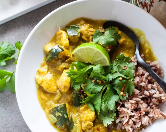 Chicken and Acorn Squash Coconut Curry