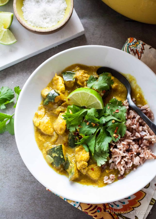 Chicken and Acorn Squash Coconut Curry | The Noshery