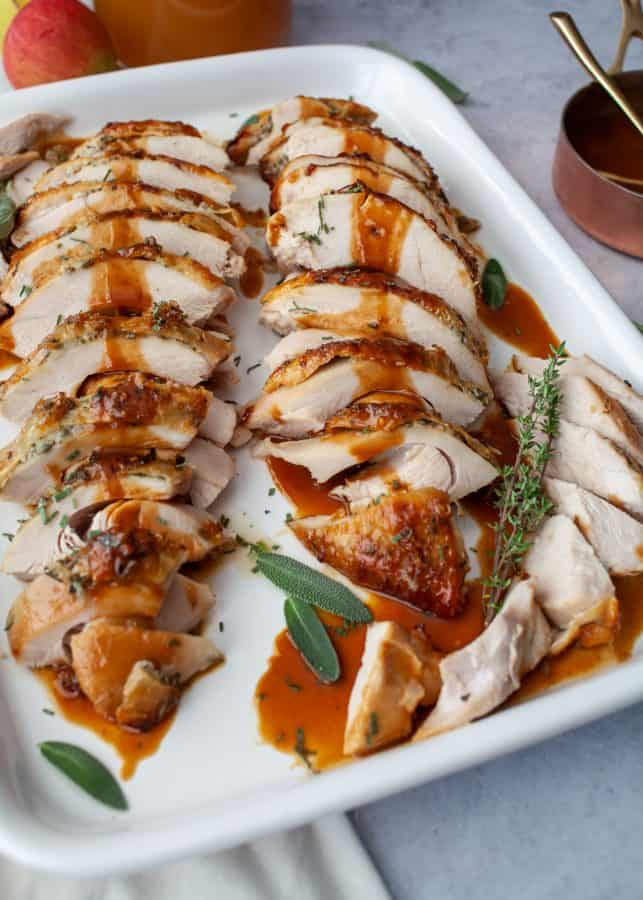 Apple Cider Glazed Turkey Breast