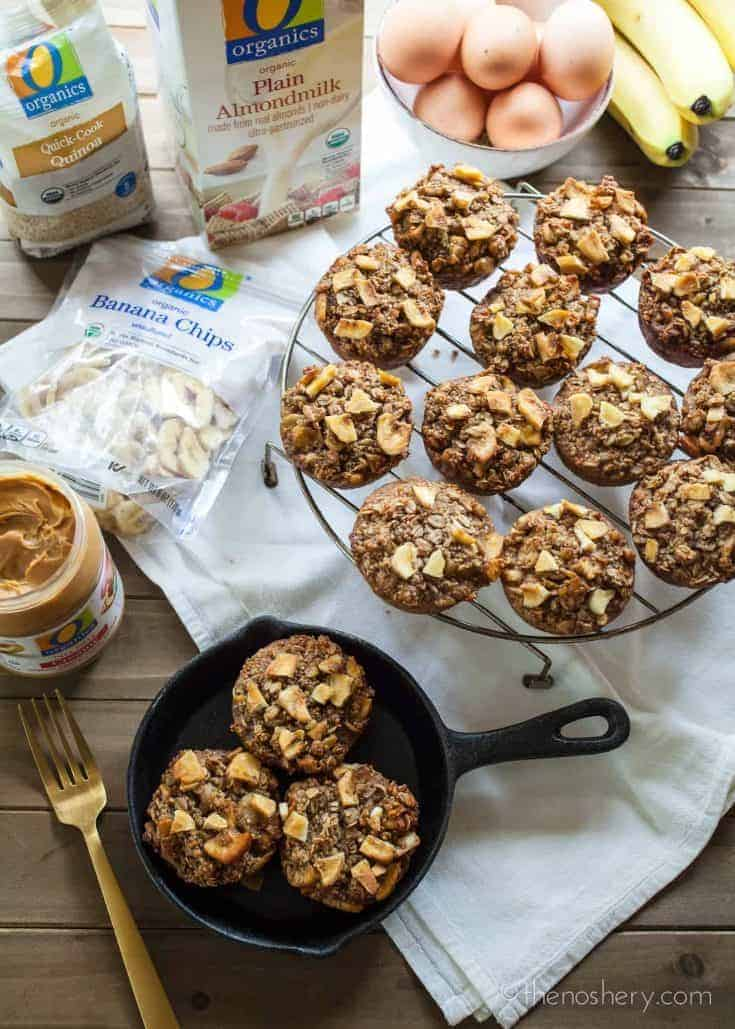 Banana Nut Protein Baked Oatmeal Cups