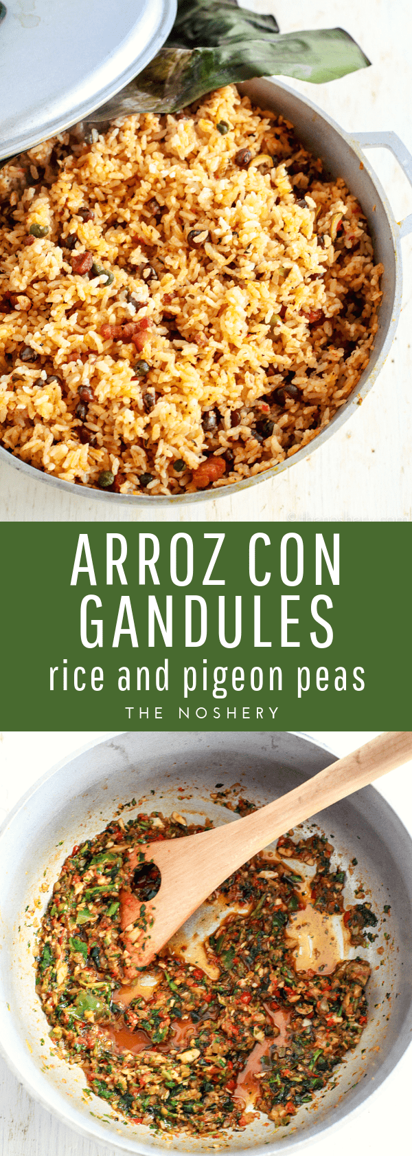 Arroz con Gandules | Arroz con gandules is a flavorful rice dish with pigeon peas. It's traditionally served in Puerto Rico during Christmas but, appreciated year round. | The Noshery