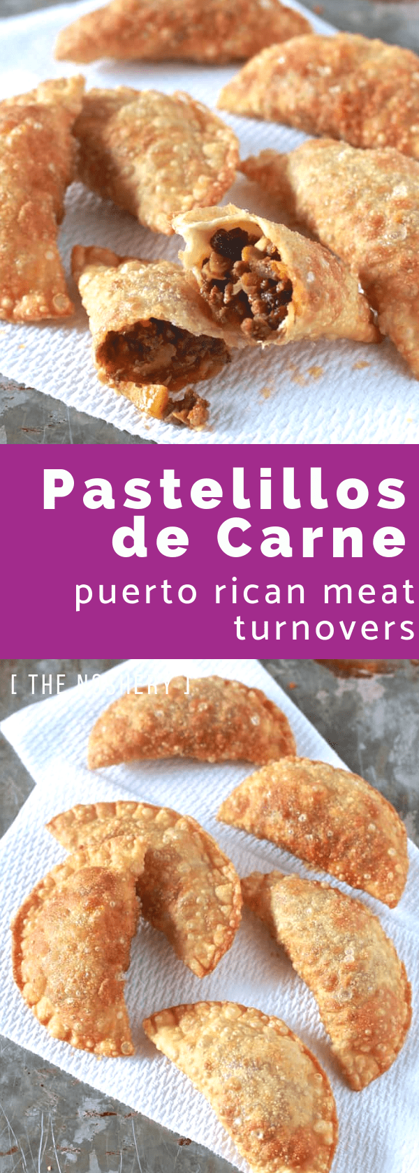Pastelillos de Carne (Puerto Rican Meat Turnovers) with Homemade Pastelillo Dough Recipe | Pastelillos de carne are a Puerto Rican street food staple. This recipe is made with a homemade dough and flavor-packed beef filling. | The Noshery
