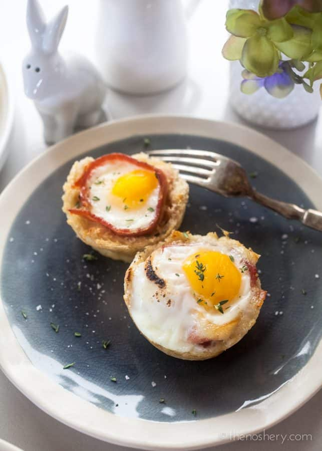 Bacon Egg Cups in Toast | The Noshery