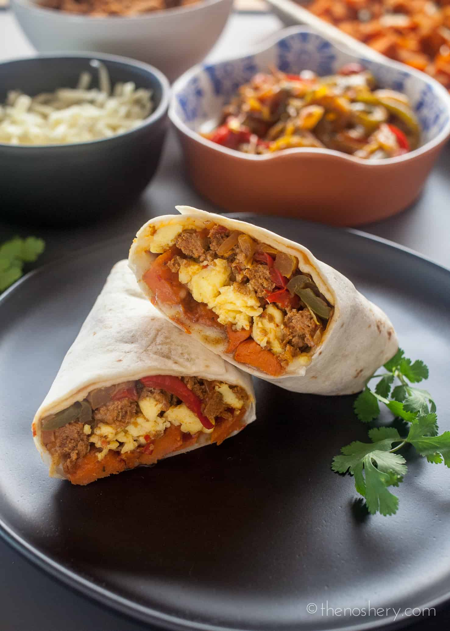 Freezer Breakfast Burritos With Sweet Potato Turkey Chorizo