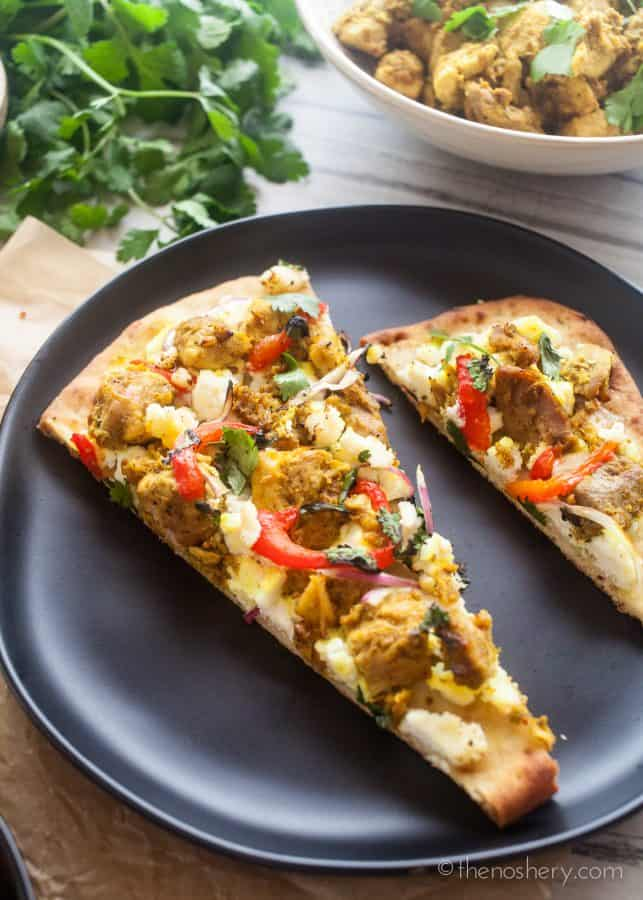 Tandoori Chicken Naan Flatbread | The Noshery