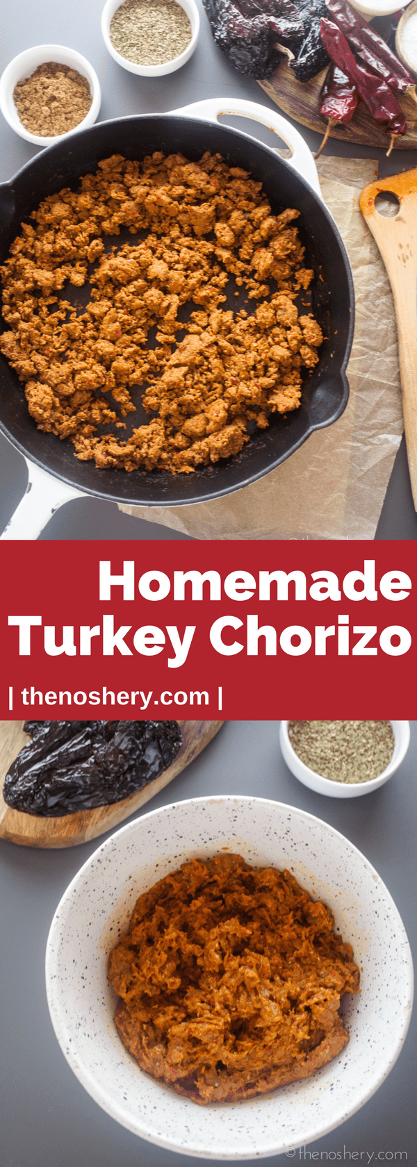 Homemade Turkey Chorizo | A healthier version of traditional chorizo with all the flavor. I make this part of my regular meal planning for easy breakfast tacos or burritos. | The Noshery