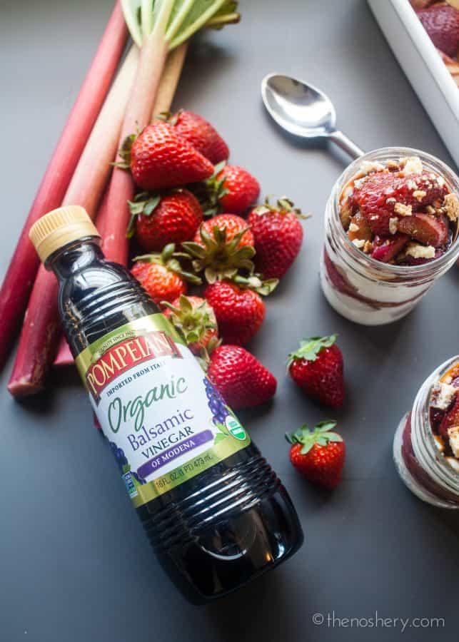 Roasted Balsamic Rhubarb and Strawberry Yogurt Parfaits | The Noshery