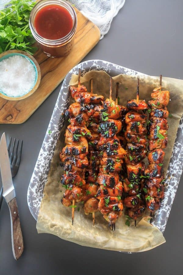 Pinchos de Pollo (Puerto Rican Chicken Skewers) | The Noshery