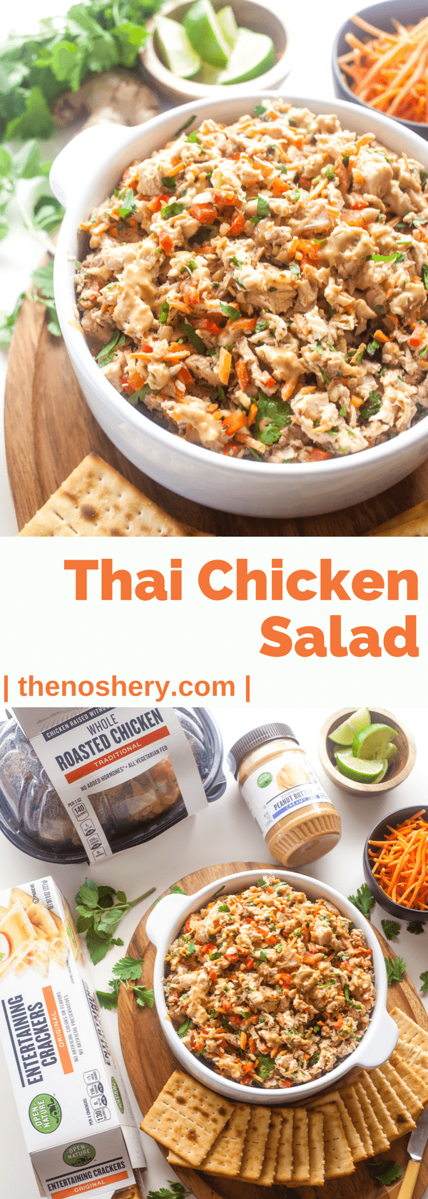 Thai Chicken Salad | An easy chicken salad loaded with sweet and spicy Thai flavors. A great make-ahead salad for healthy lunch throughout the week. | The Noshery