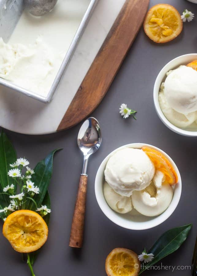Orange Blossom & Olive Oil Gelato | The Noshery