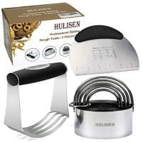 HULISEN Stainless Steel Professional Baking Dough Tools, Gift Package