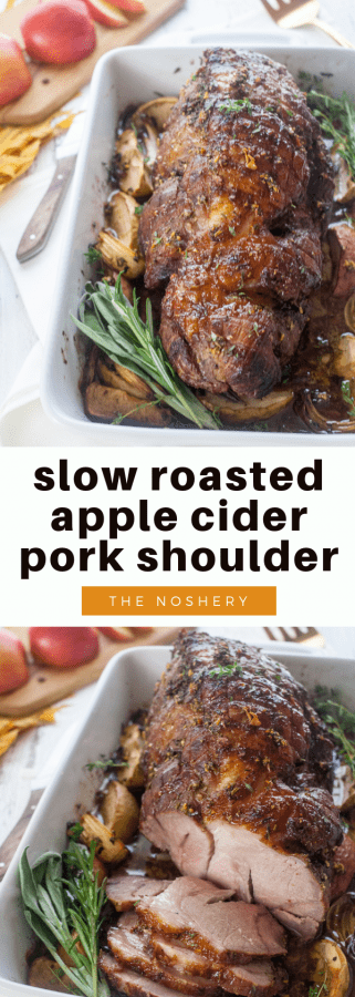 Slow Roasted Apple Cider Pork Shoulder | The Noshery