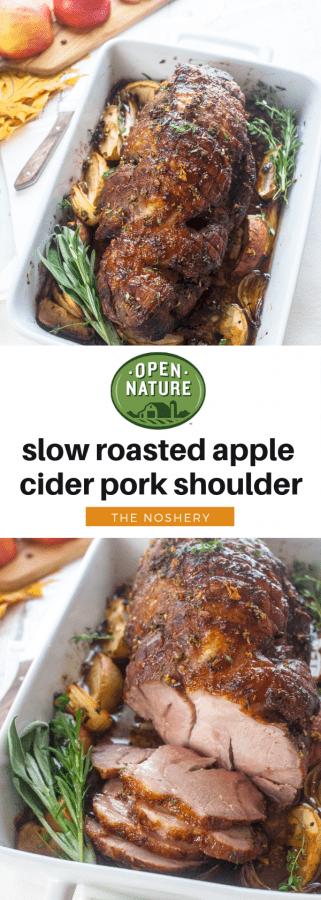 Slow Roasted Apple Cider Pork Shoulder | The Noshery