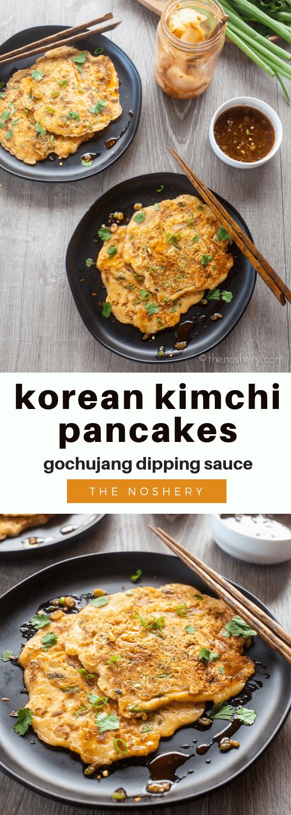 korean kimchi pancakes |
