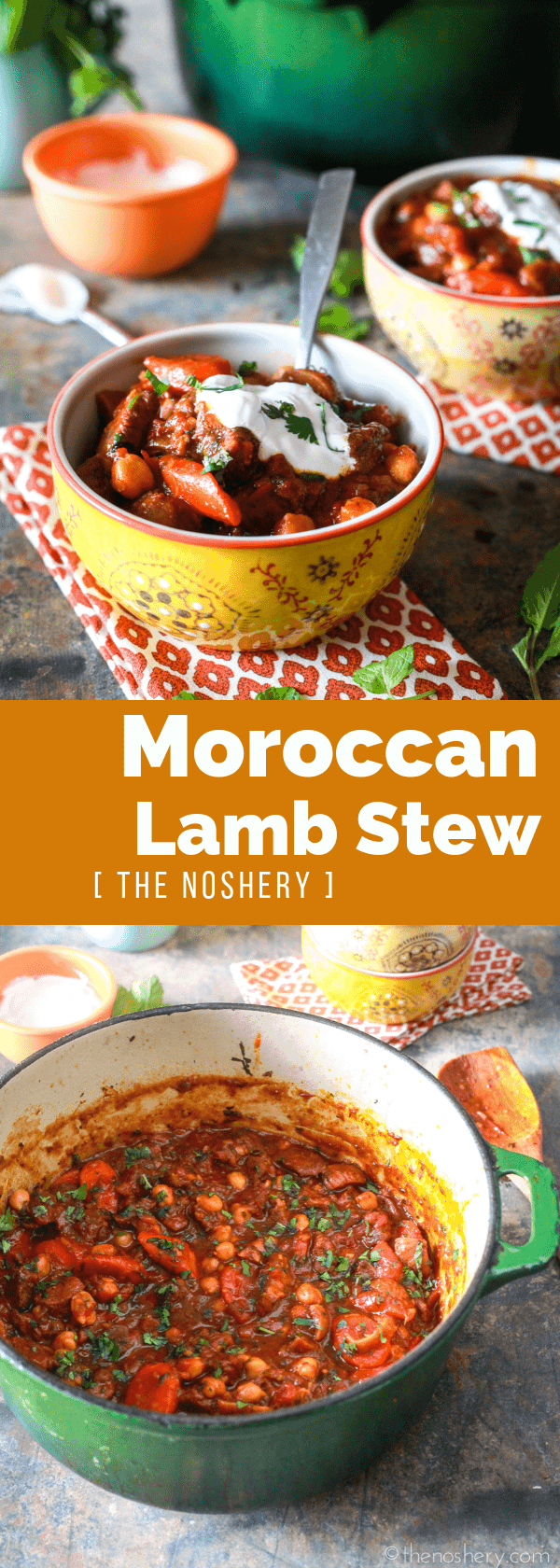 Moroccan Lamb Stew | Sweet, spicy, and fragrant Moroccan lamb stew. A hearty and filling stew fit for fall with the bright flavors of summer. | The Noshery