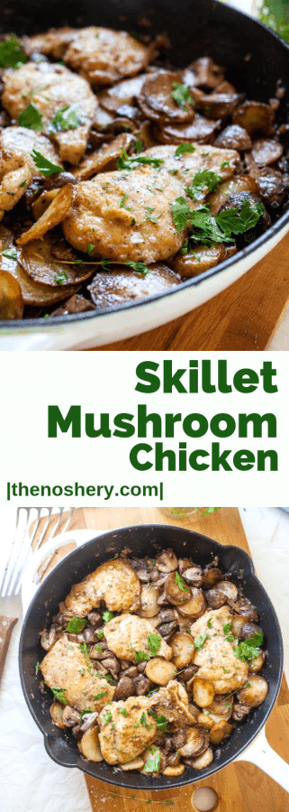 Skillet Mushroom Chicken | The Noshery