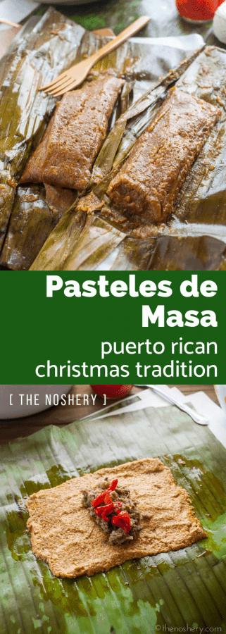 Pasteles de Masa con Cerdo (Puerto Rican Taro Root & Plantain Pork Pockets) | The Noshery