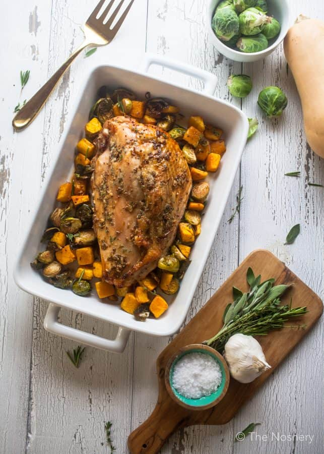 Mustard & Sage Roast Turkey Breast with Fall Vegetables | The Noshery