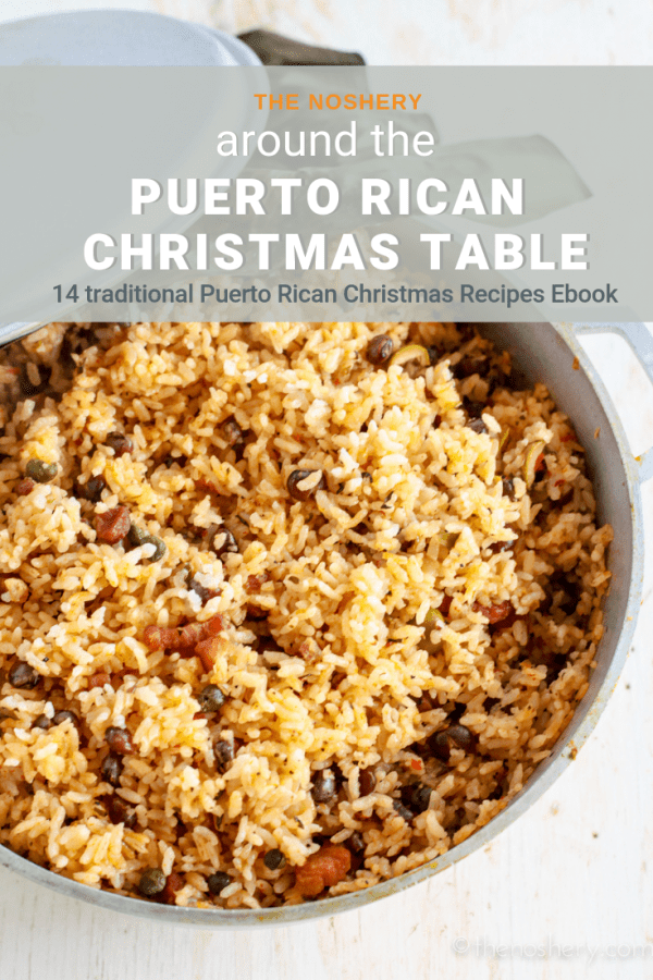 The Noshery Ebook | Around the Puerto Rican Christmas Table is finally here! A collection of traditional Puerto Rican Christmas recipes. Its got everything! Pernil, Arroz Con Gandules, Pasteles, Tembleque, Coquito, and more all in one place! Buy your copy!