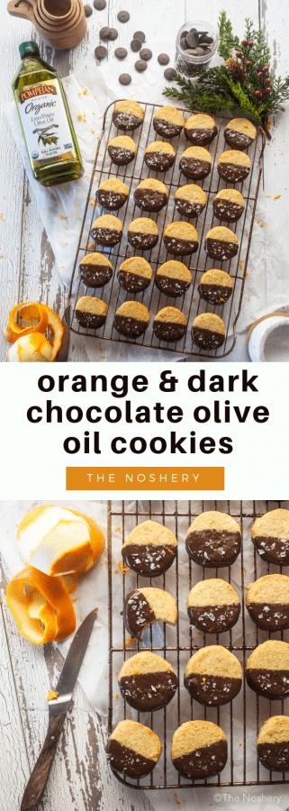 Orange, Dark Chocolate, and Sea Salt Olive Oil Cookies | The Noshery