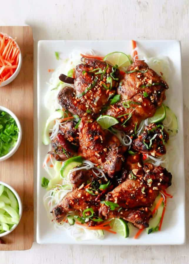 Vermicelli Noodles and Chinese Five Spice Chicken | The Noshery