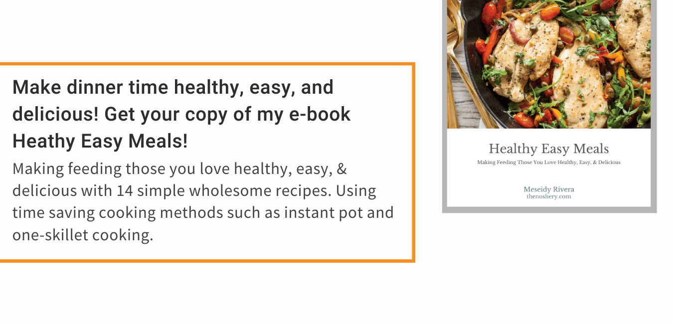 Healthy Easy Meals | Making Feeding Those You Love Healthy, Easy, & Delicious