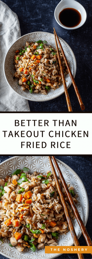 Better Than Takeout Chicken Fried Rice | Don't wait for delivery or drive to your favorite restaurant when you can make this delicious Better than Takeout Chicken Fried Rice in your own kitchen.