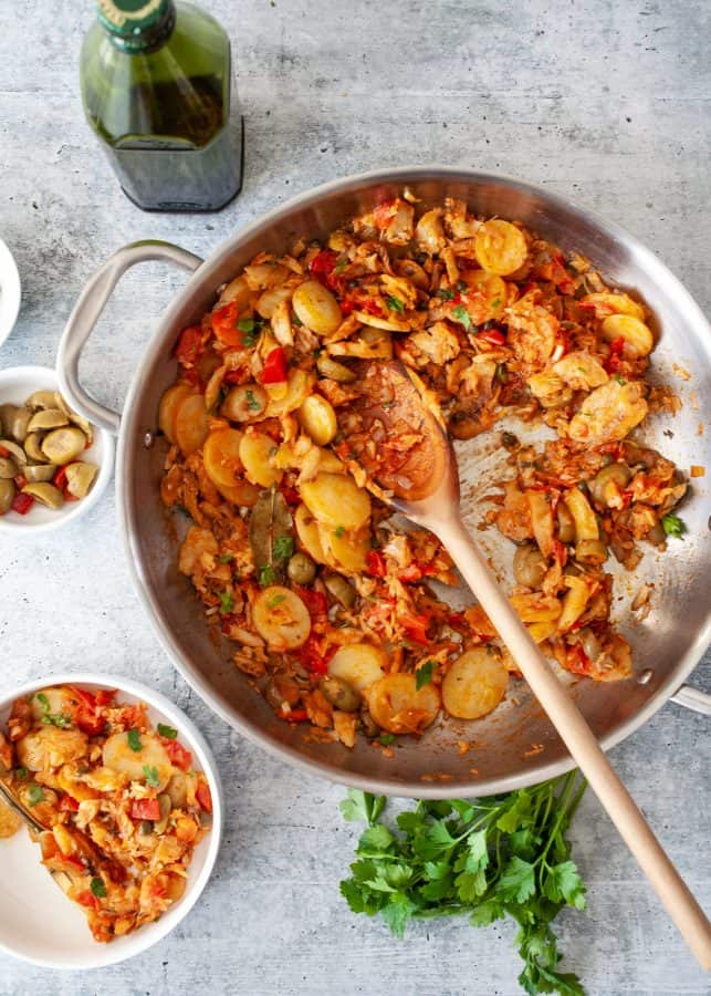 Bacalao a la Vizcaina (Basque Style Stewed Salted Cod) | The Noshery