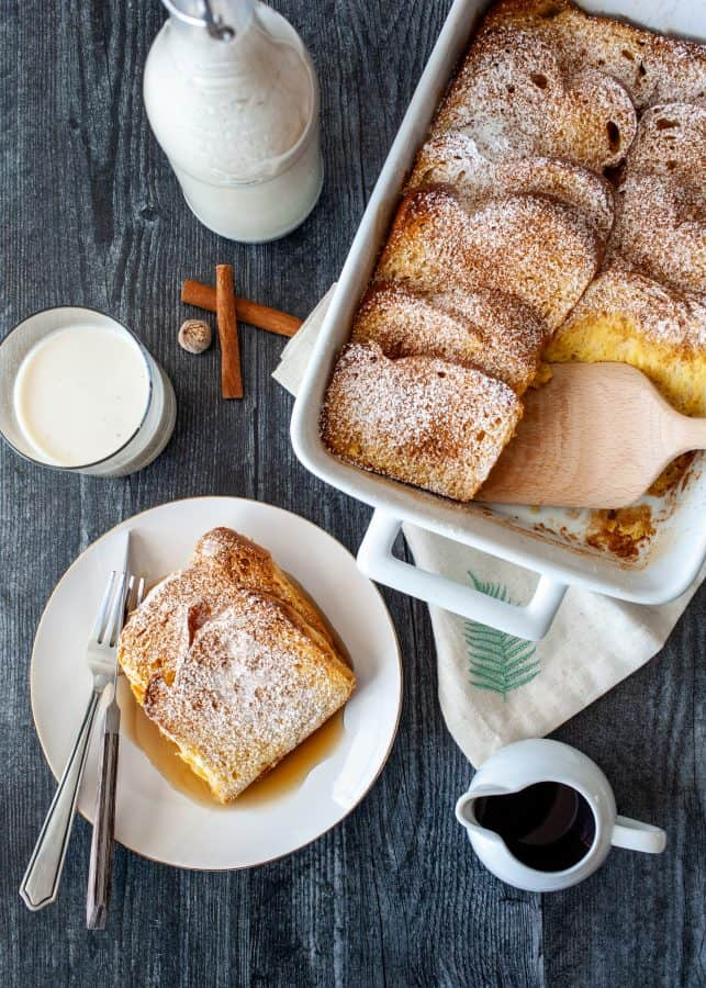 Baked Rum Coconut French Toast (Coquito Baked French Toast) | The Noshery