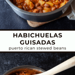 Habichuelas Guisadas (Puerto Rican Stewed Beans) | These Puerto Rican beans are a quick, easy, and comforting staple in a stew-like tomato sauce packed with flavor.