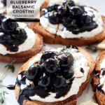 Whipped Goat Cheese and Blueberry Balsamic Crostini