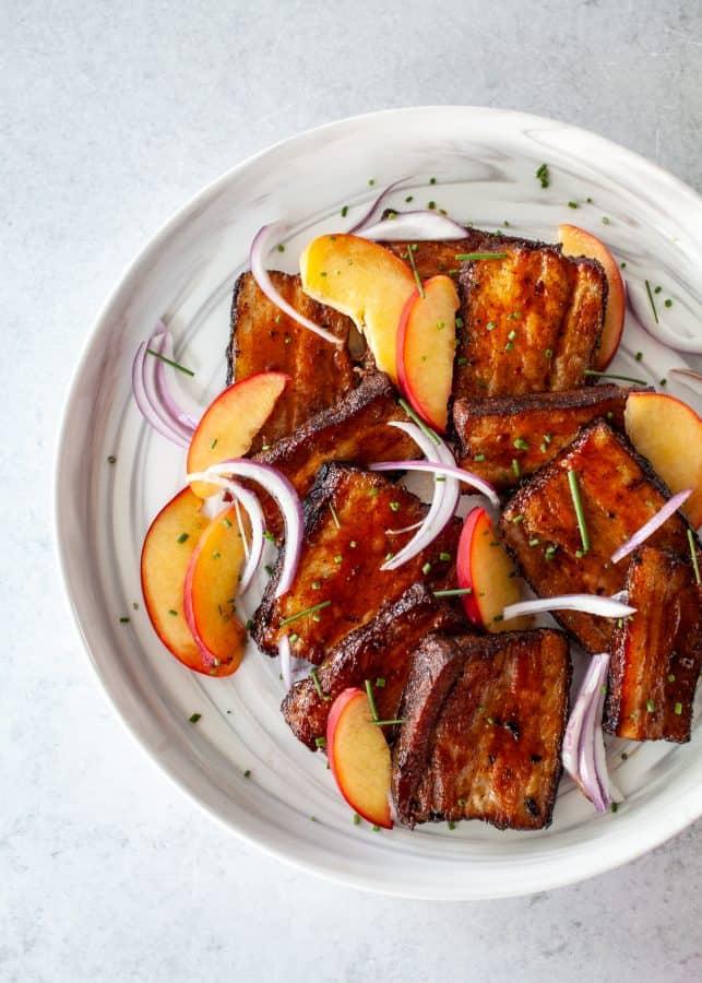 BBQ Sous Vide Pork Belly | The Noshery