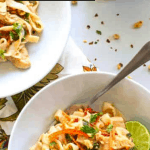 Spicy Thai Peanut Noodles with Chicken