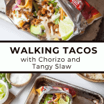 Walking Tacos with Chorizo and Tangy Slaw | The Noshery