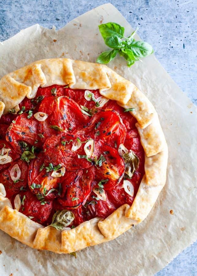 Tomato and Goat Cheese Tart | The Noshery