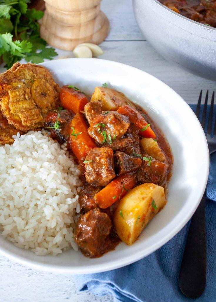 Instant Pot Puerto Rican Stewed Beef Tongue (Lengua de Res Guisada)