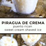 Piragua de Crema (Sweet Cream Shaved Ice) | The Noshery