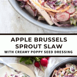 Apple and Brussles Sprout Slaw | The Noshery