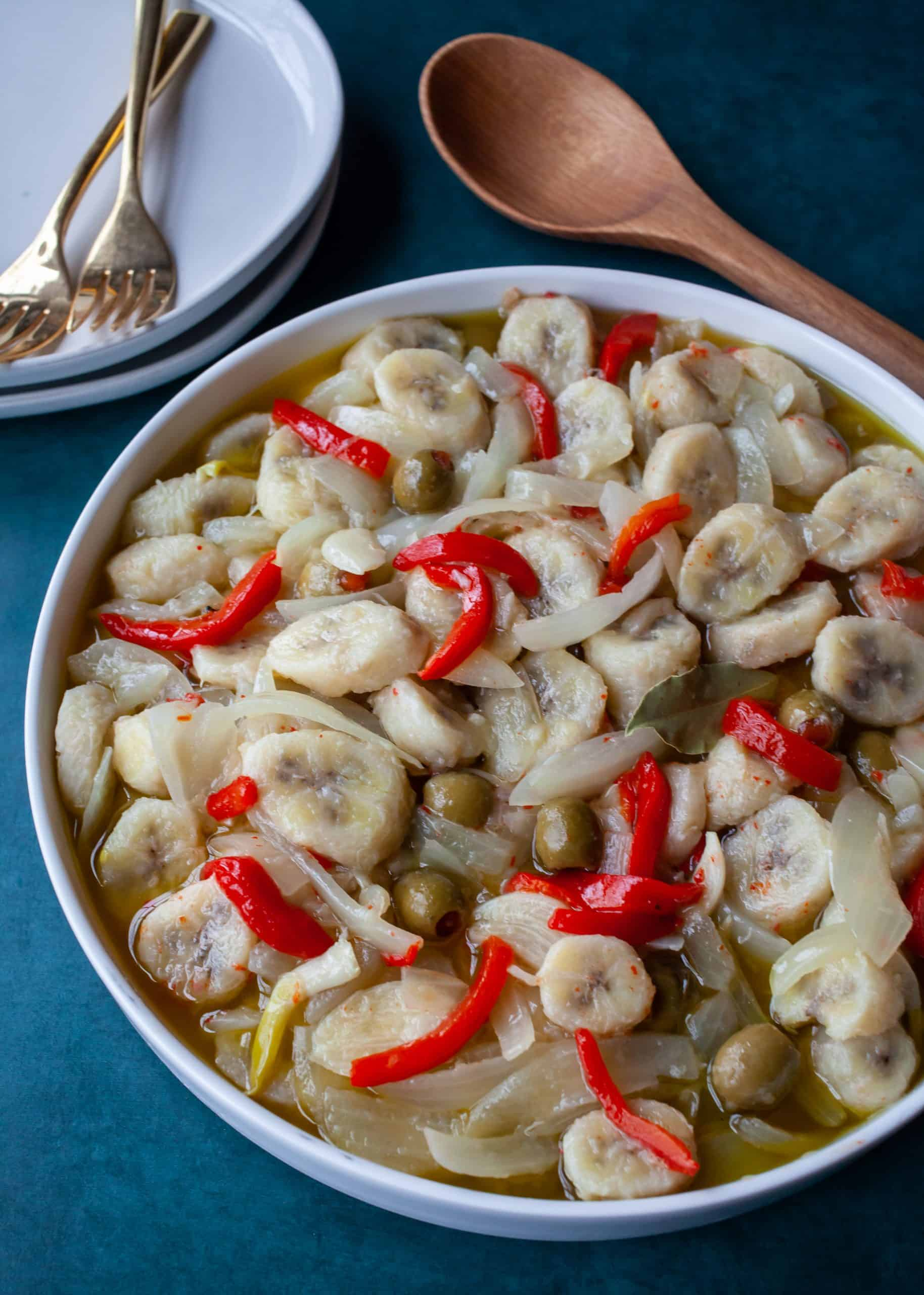Guineos en Escabeche | Marinated Green Bananas